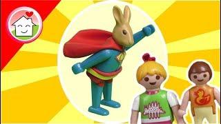 Playmobil Osterhasen Film deutsch - Der Superhase -  Geschichte für Kinder von Familie Hauser