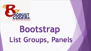 Bootstrap3 tutorial in hindi part-12 | Bootstrap List Group , Panels|create bootstrap panel Example