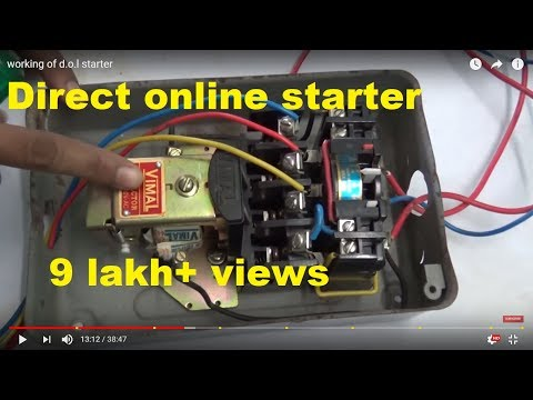Dol Starter Connection With Auto Switch Youtube