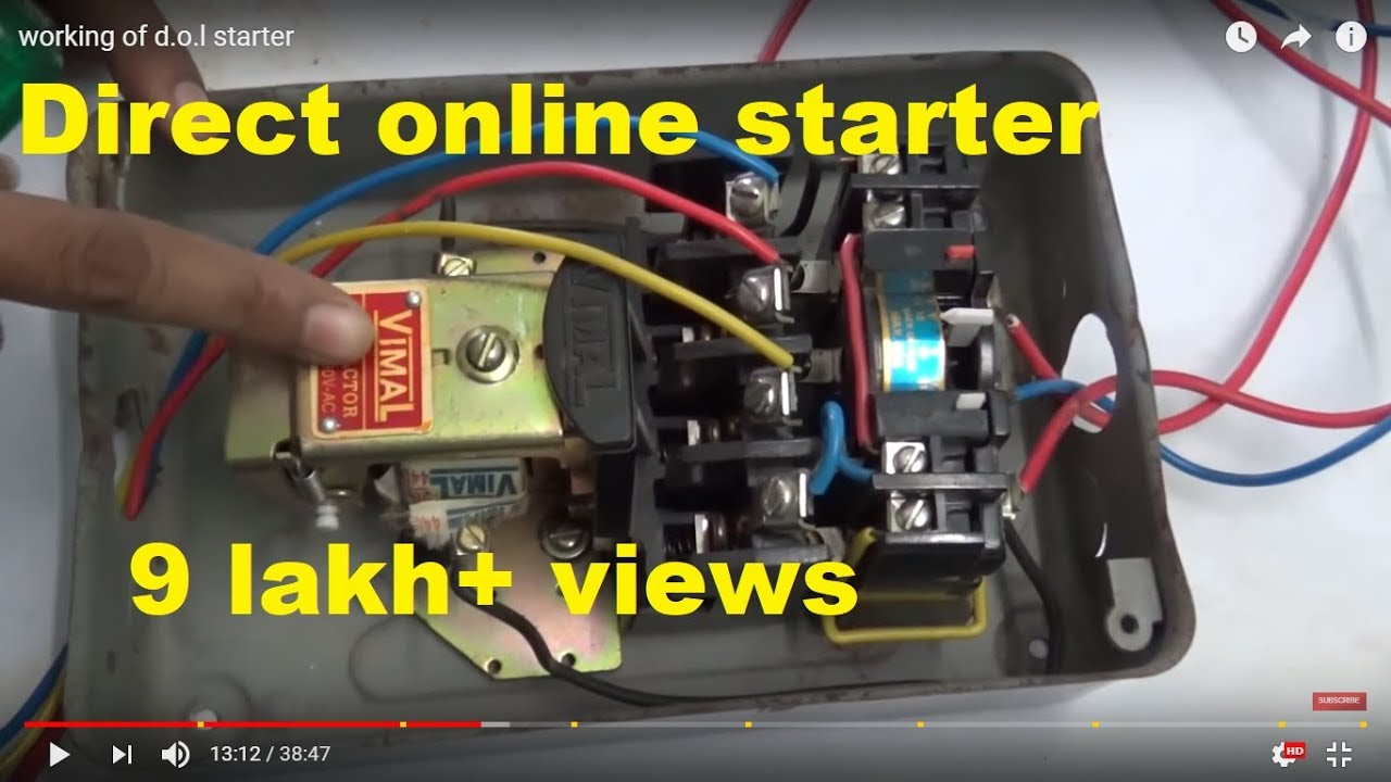 Working Of Dol Starter Youtube Mag Ic Motor Wiring Diagram