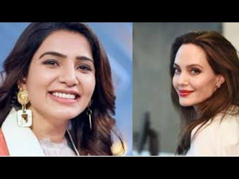 south superstar samantha akkineni family 2 role compare TO ANGELINA JOLIE #SHORTS
