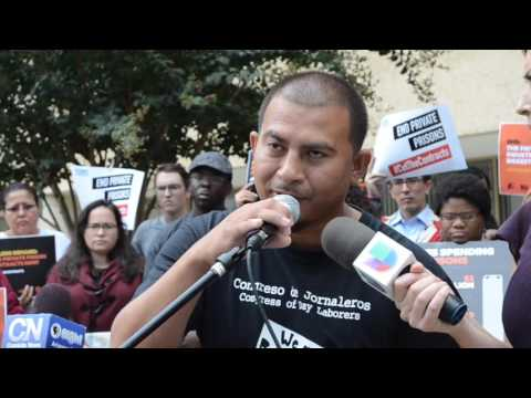 Jose Torres Speaks Out Against Private Detention