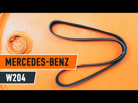How to replace poly v-belt with tensioners MERCEDES-BENZ C W204 TUTORIAL | AUTODOC
