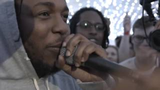 Kendrick Lamar surprises youth and cypher breaks out