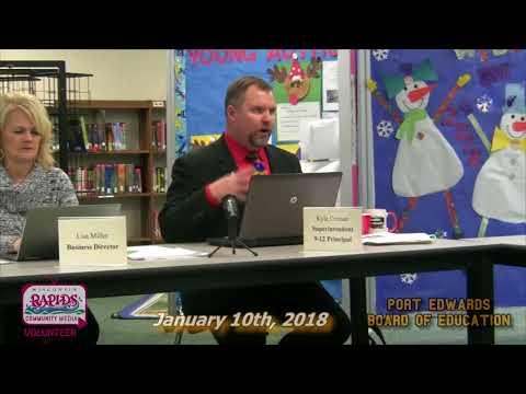 Port Edwards School Board 1-11-18