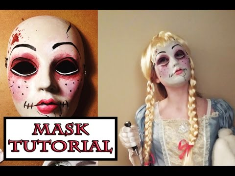 scary doll mask tutorial with paint youtube