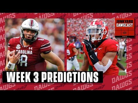 Week 3 Predictions! Georgia battles South Carolina to open SEC Play   Junkyard Dawgcast