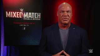 Kurt Angle reveals Raw's Superstars for the Mixed Match Challenge, beginning Jan. 16 thumbnail