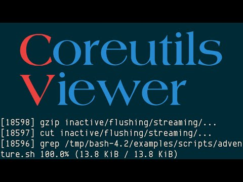 cv, Coreutils Viewer (not to be confused with GNU Core Utilities)