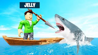 SHARK vs. JELLY In ROBLOX! (Sharkbite)