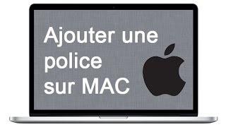 Ajouter une police de caractère sur MAC OS X - Dafont