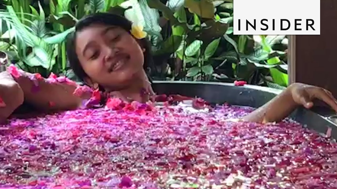 Relax in a Flower Bath - YouTube