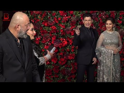 Madhuri Dixit, Sanjay Dutt, Rekha Arrives At Ranveer Deepika's Wedding Reception