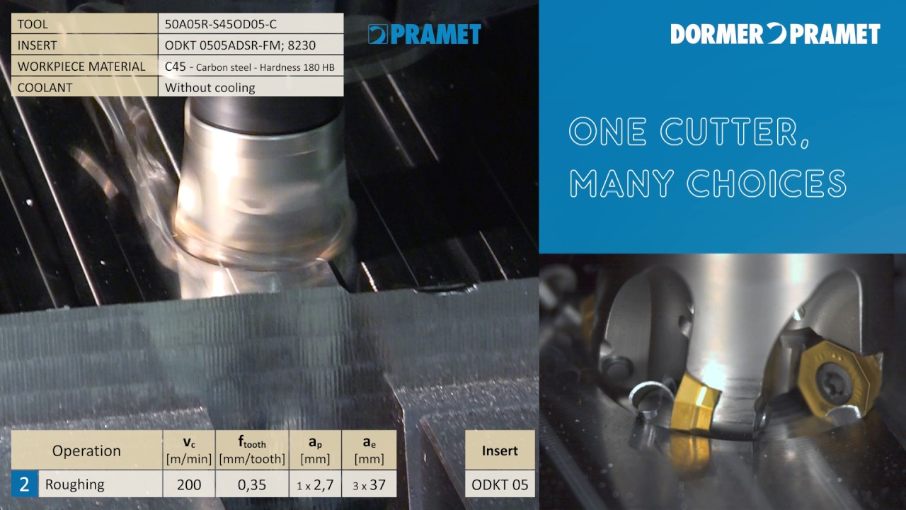 Pramet Sod05 Universal Milling Cutters And Inserts Youtube