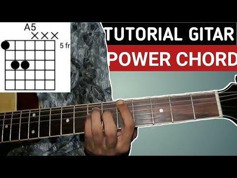 Belajar POWER CHORD gitar A5-B5-C5-D5-E5-F5-G5