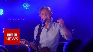 Sir Paul returns to Cavern Club for gig - BBC News