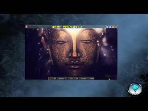 Linux Mageia 6 com interface gráfica FVWM Crystal