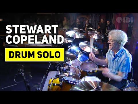 [HD] Stewart Copeland - Drum Solo (2nd Week) - David Letterman 8-24-11