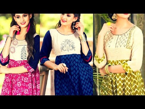Latest Trending Indian Girls Anarkali Kurtis - Kurta Dresses For Girl - 2017 - 2018