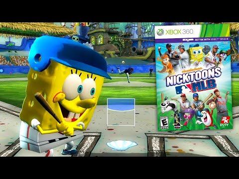 so they made a Spongebob Baseball game. Nicktoons MLB