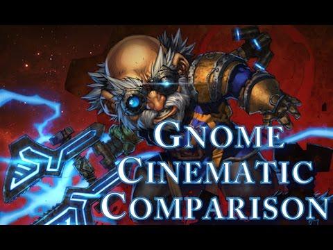 World Of Warcraft - Vanilla and Cataclysm Gnome Starting Zone Cinematic Comparison