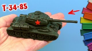 Making T 34 85 TANK  from Modelling Clay