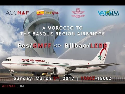 GMFF-LEBB A Morocco to the Basque Region Airbridge GMFF_APP session