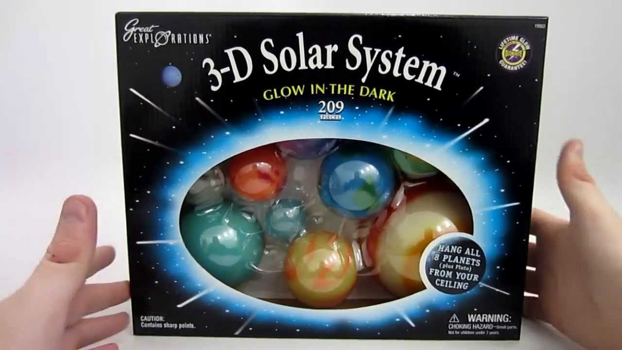 Glow In The Dark 3D Solar System