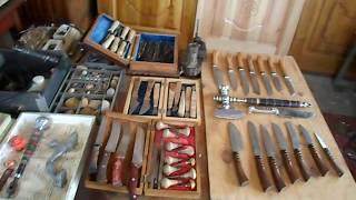 Самодельные  ножи - обзор инструмента 2 часть