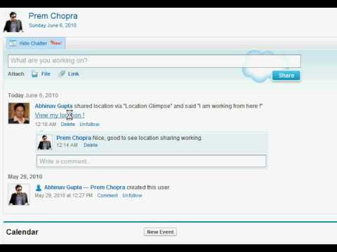Part 1 : How Salesforce chatter shows a Location Glimpse LINK Post