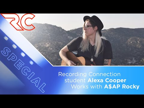 Recording Connection Student Alexa Cooper works with A$AP Rocky