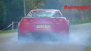 Burnouts/ Cars leaving Hammink Performance open house 2017