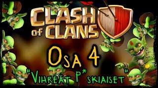 Clash of Clans - Osa 4 - VIHREÄT P*SKIAISET! [Goblinit!] :D