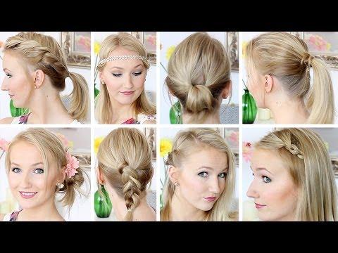 10 Frisuren In 8 Minuten Schnell & Einfach Mittellanges Haar