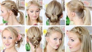 10 Frisuren in 8 Minuten - Schnell & Einfach - Mittellanges Haar