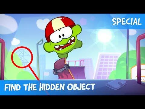 Find the Hidden Object Ep.27 - Om Nom Stories: Skateboarding
