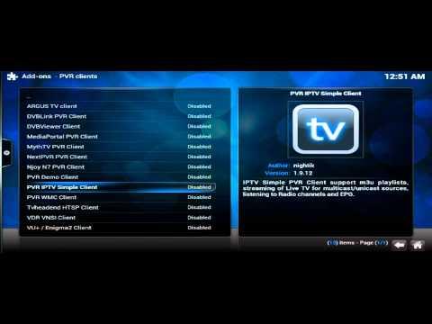 How To Setup LiveTV PVR IPTV Simple Client Kodi XBMC For Android (LigTV)