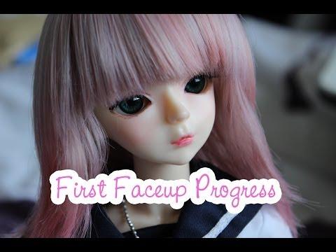 First BJD Faceup Progress