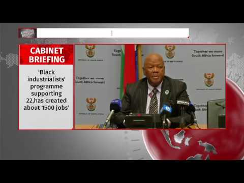 Minister Radebe presents outcomes of cabinet meeting