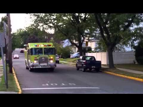 BERGEN COUNTY NEW JERSEY  FIRE TUCKS RESPONDING CUMPLIATION