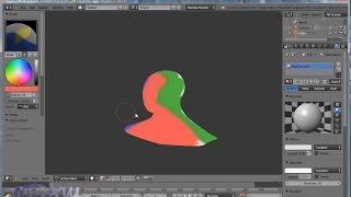 Blender. Урок 13-16 (дополнение): Раскраска вершин