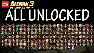 LEGO: Batman 3 - Beyond Gotham - All Characters Unlocked + DLC Review