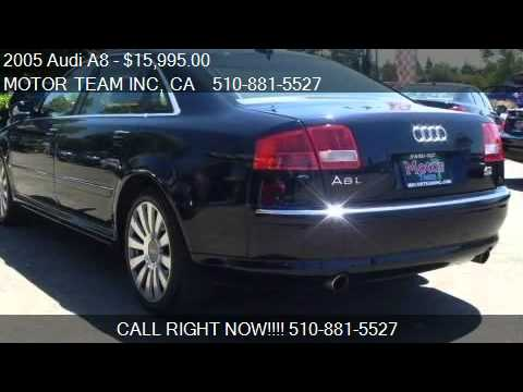 2005 audi a8 l for sale in hayward ca 94544 youtube. Black Bedroom Furniture Sets. Home Design Ideas