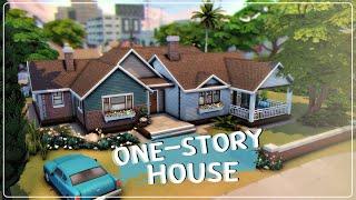 Одноэтажный дом│Строительство│One-story House│SpeedBuild│NO CC [The Sims 4]