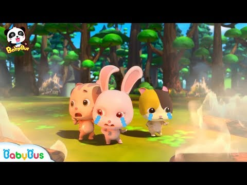 Friends are Trapped in Forest Fire   Super Panda Firefighter   Monster Car Rescue Team   BabyBus