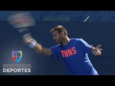 Juan Martín del Potro emocionado de estar de regreso en el ATP en Delray Beach, Florida