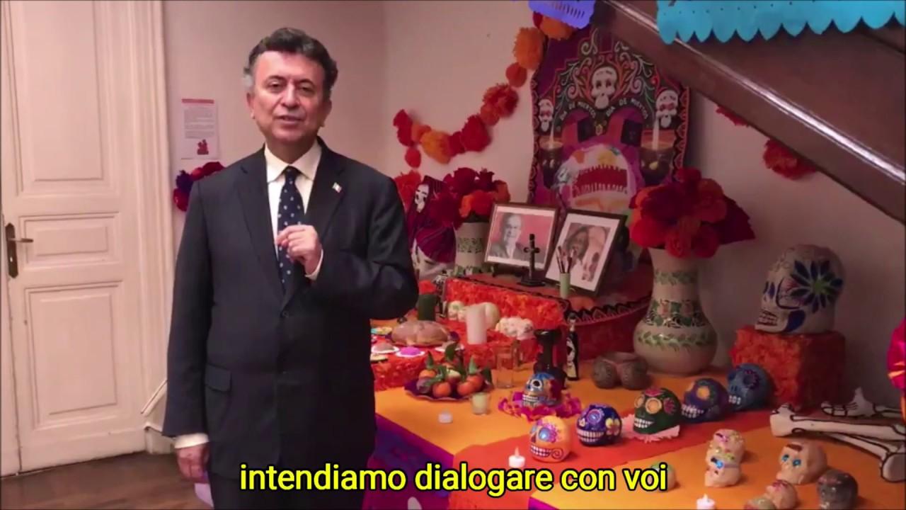 Mensaje del nuevo Embajador de México en Italia