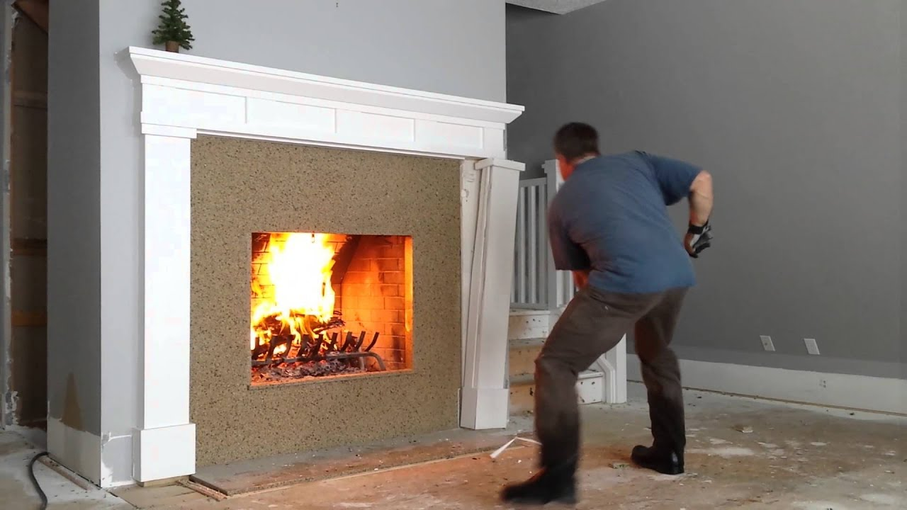 fireplace remodel youtube
