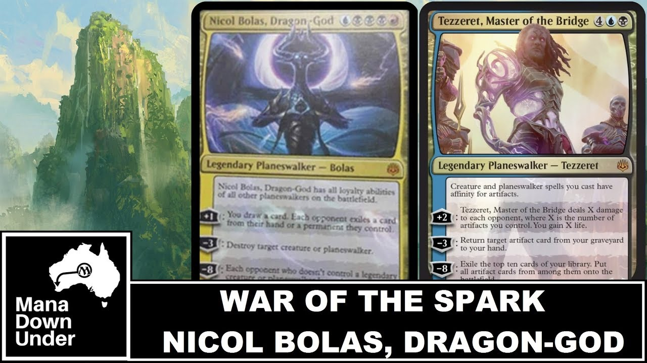 MTG War of the Spark Spoilers - Nicol Bolas, Dragon God + MORE PLANESWALKERS