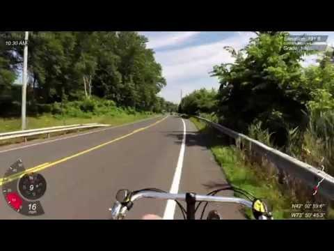 Red Hook to Hudson, NY on Bacchetta Giro 20 recumbent bicycle ride (Garmin Virb Elite)